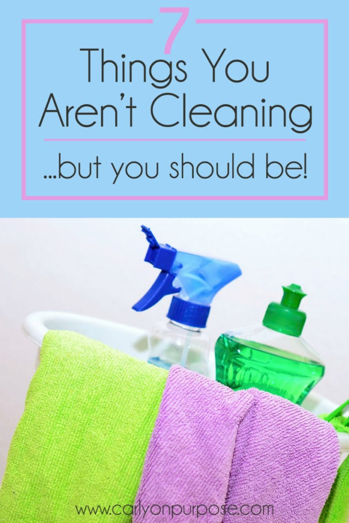 7 areas you should be cleaning