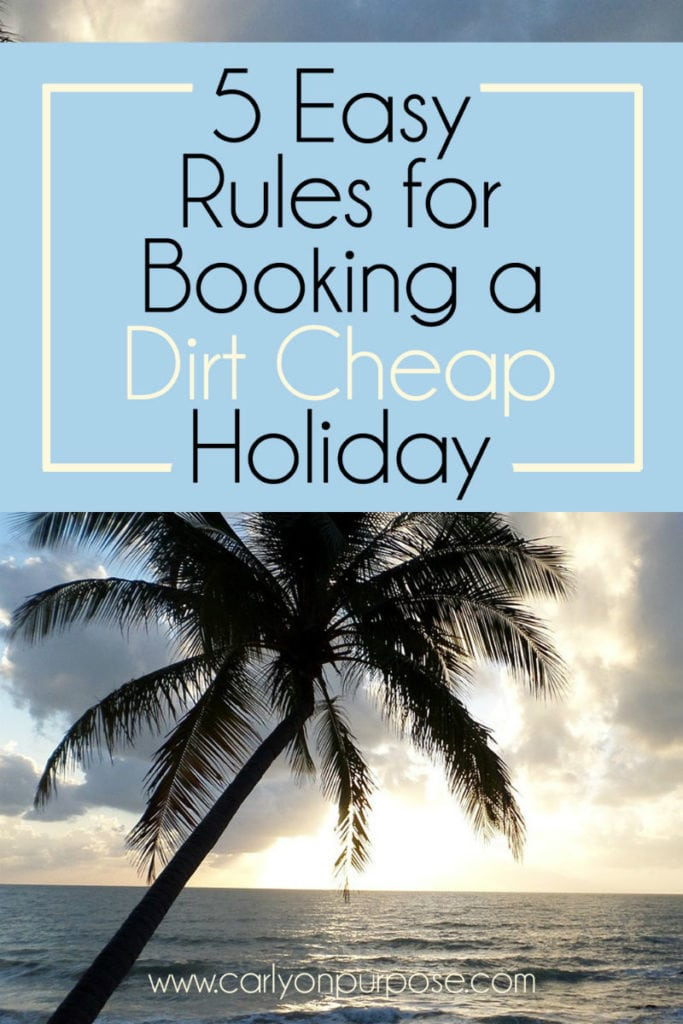 Book a cheap holiday
