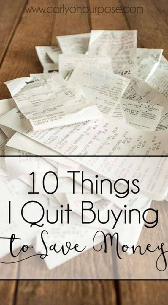 saving money tips - easy things to cut out of your budget!