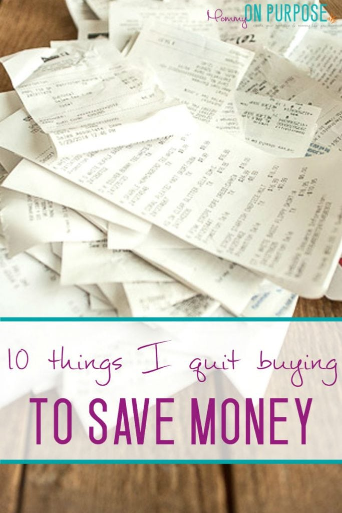 things i quit buying to save money / saving money tips