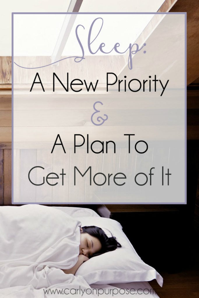 Sleep: A new priority and a plan to get more of it