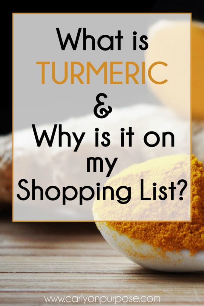 What is turmeric and why is it on my shopping list?
