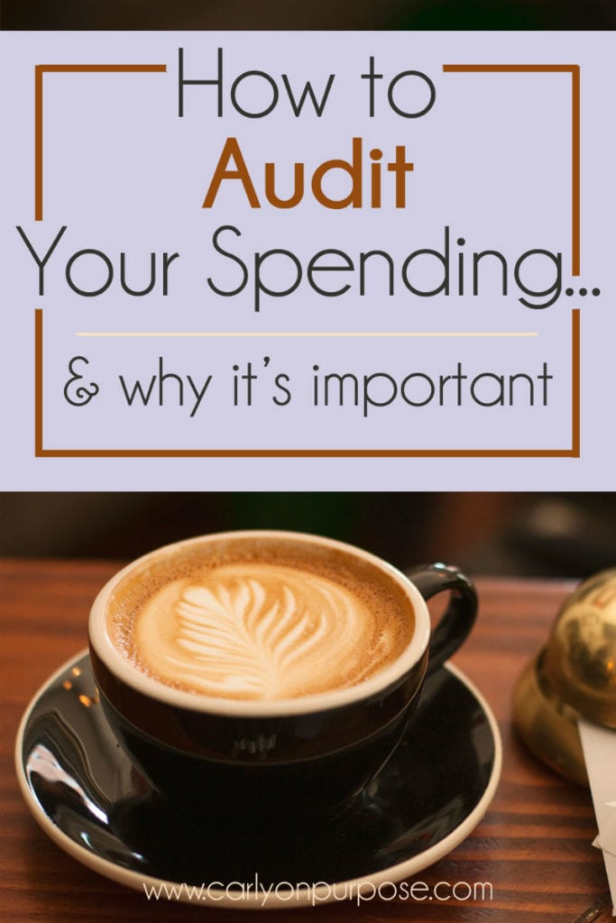 How to audit your spending