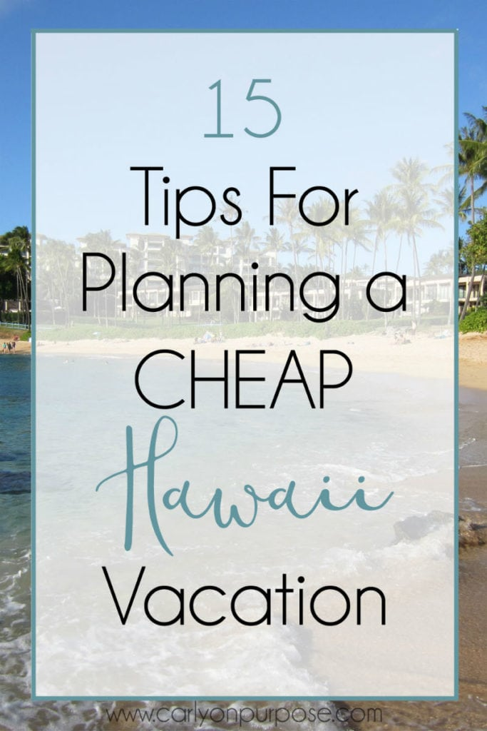 15 tips for planning a cheap hawaii vacation