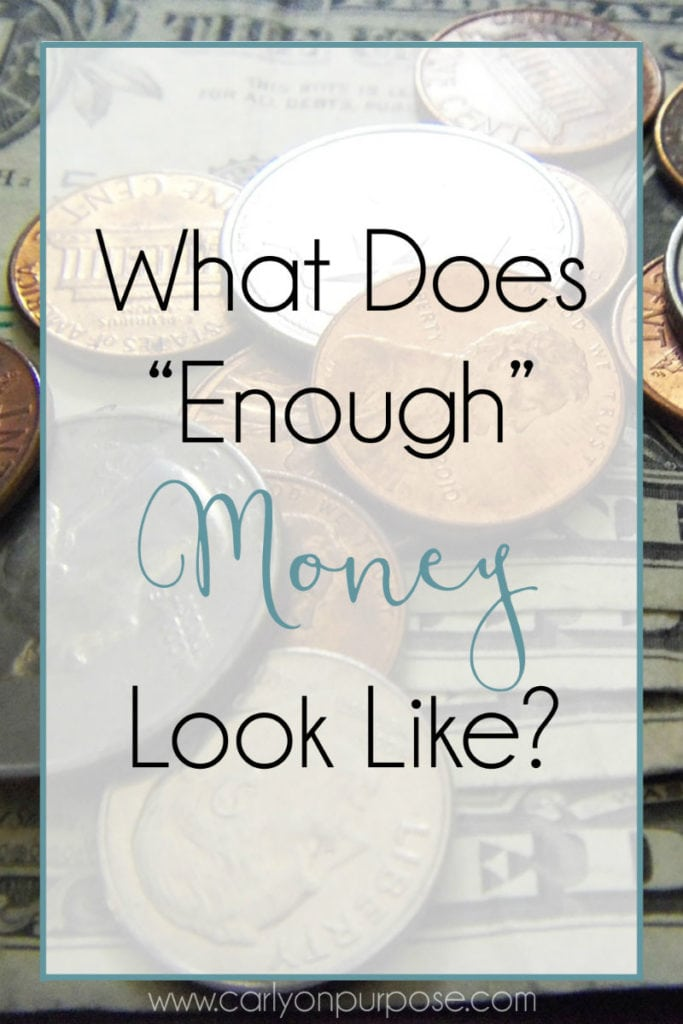 What does enough money look like?