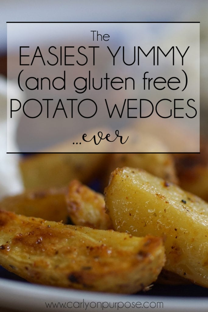 The Easiest Yummy (and gluten free) Potato wedges ever