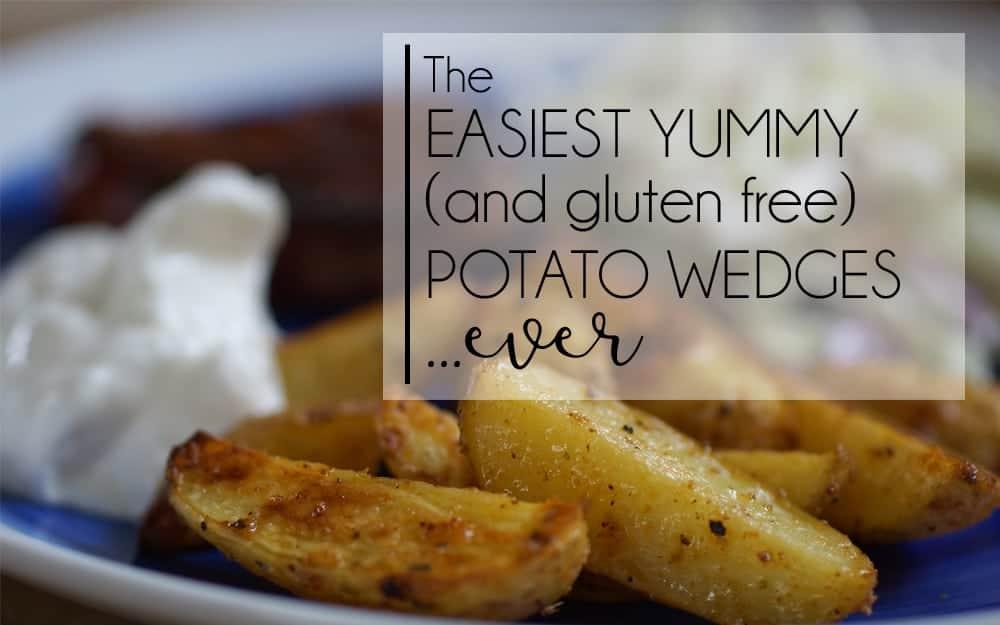 EASY Homemade (Gluten Free) Potato Wedges