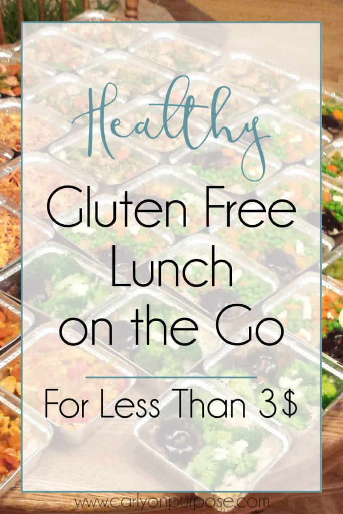 Healthy gluten free lunches on the go for less than 3 $