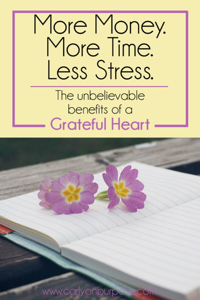 Benefits of a grateful heart