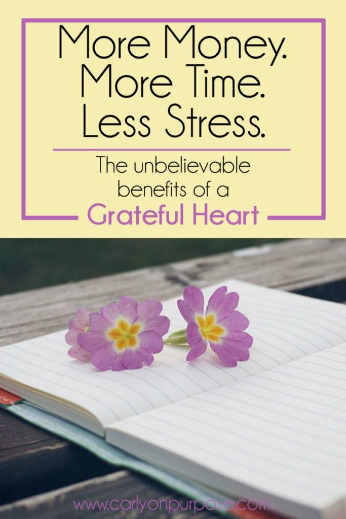 Benefits of a grateful heart
