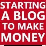 starting a blog to make money