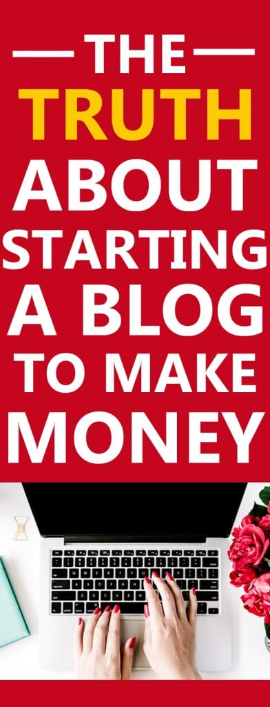 starting a blog to make money