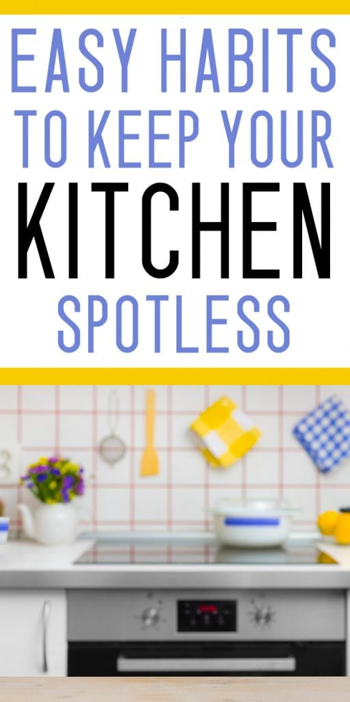 Habits to keep your kitchen spotless mommy on purpose for How to clean your kitchen
