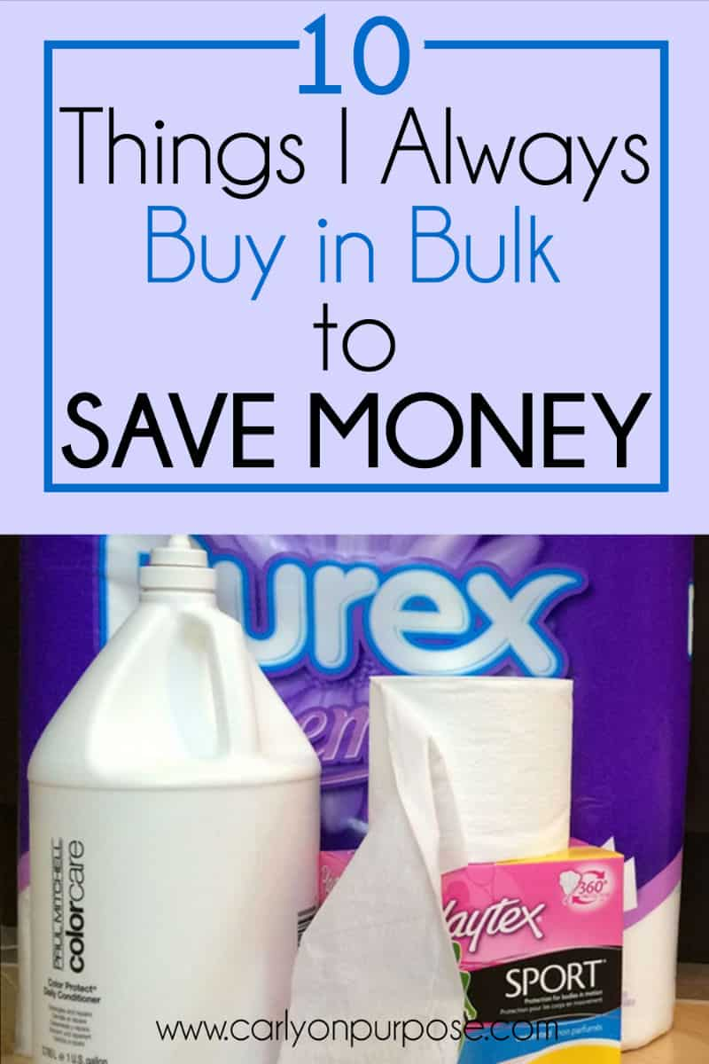 10 things I buy in bulk to save money