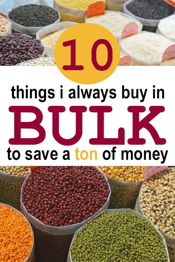 frugal living tips - things to buy in bulk to save money