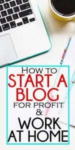 how to start a blog for profit!