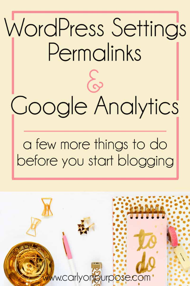 google analytics before you start a blog