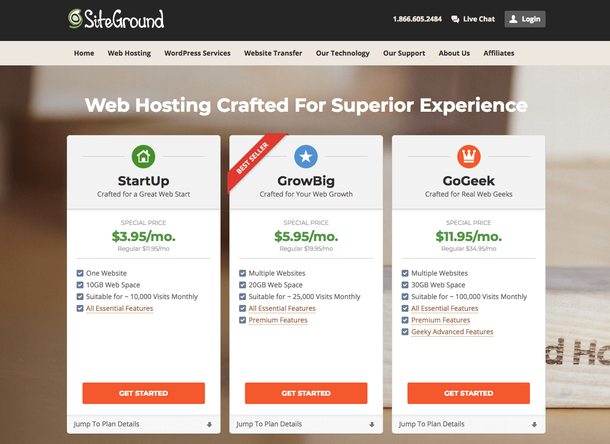 how to start a blog siteground hosting prices