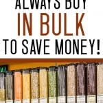 things to buy in bulk to save money
