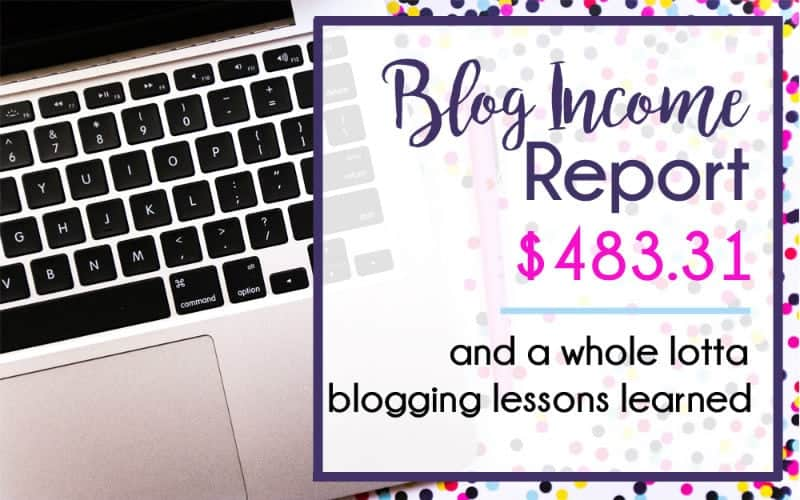 My Very First Blog Income Report