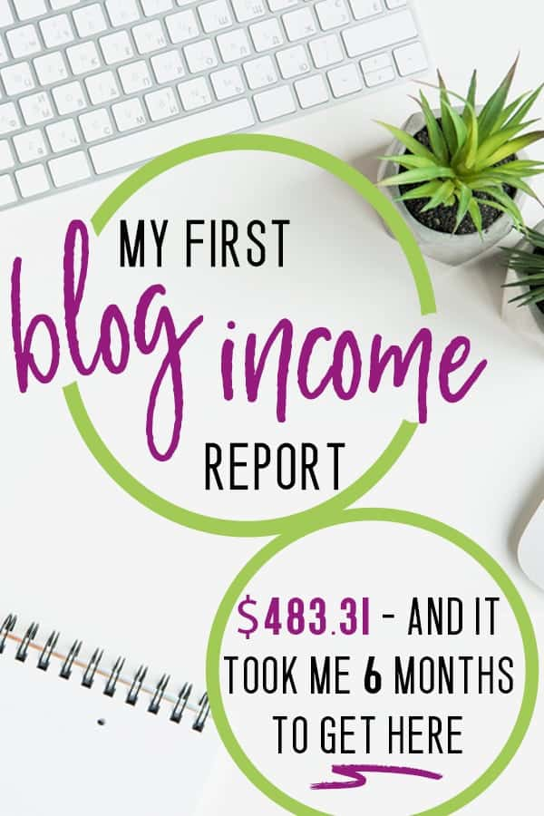 first blog income report