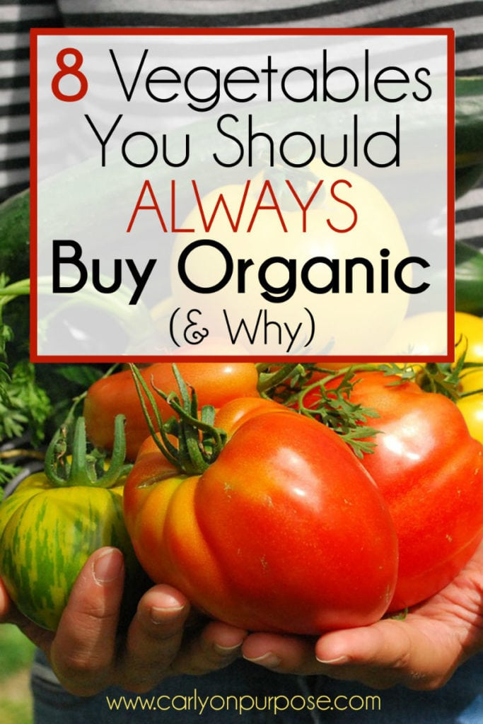 8 vegetables to buy organic
