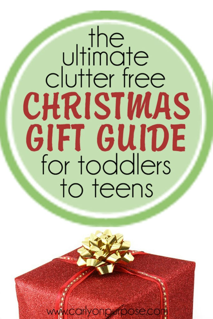 Clutter Free Christmas Gifts Guide / Gift Ideas
