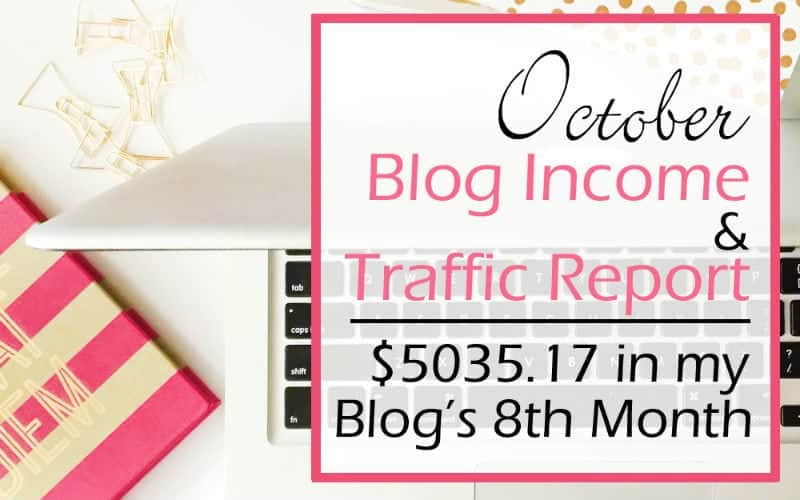 Blog Income & Traffic Report: October 2016