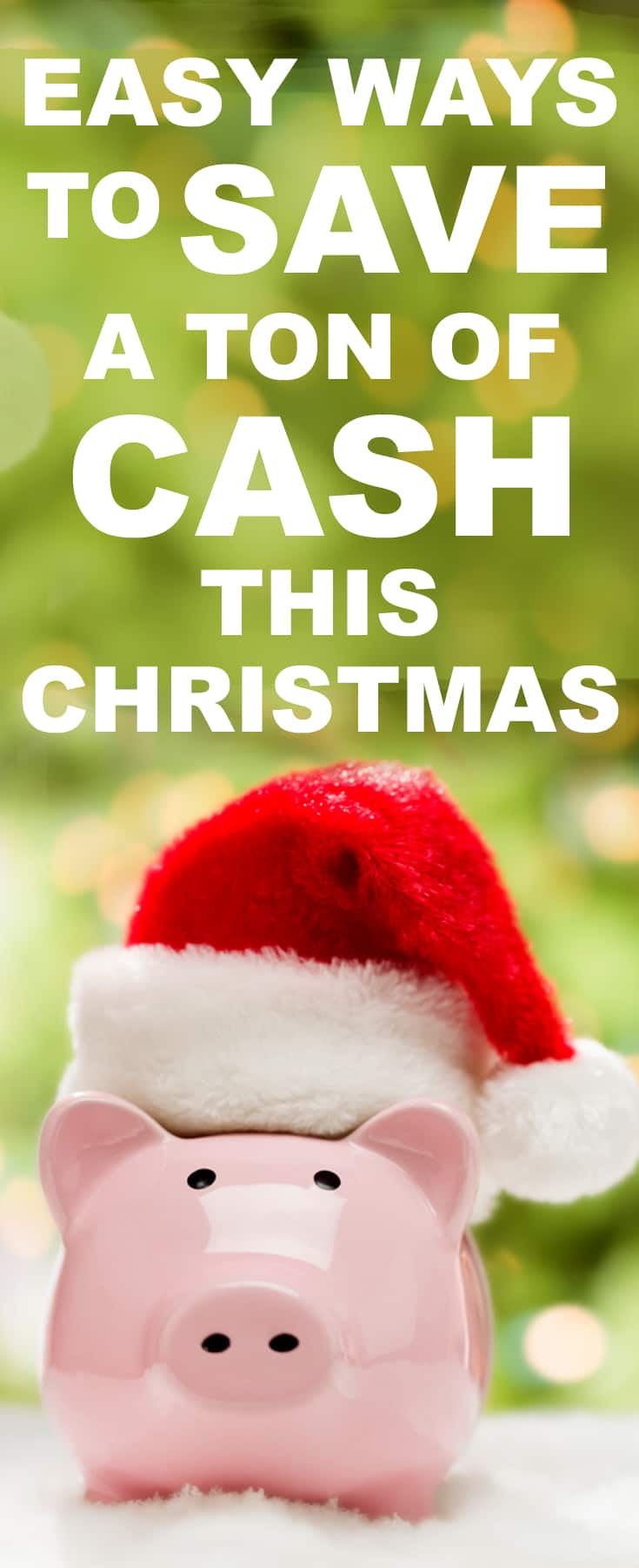 Save money on Christmas with these GREAT tips! Christmas can be SUPER expensive - but it doesn't have to be!