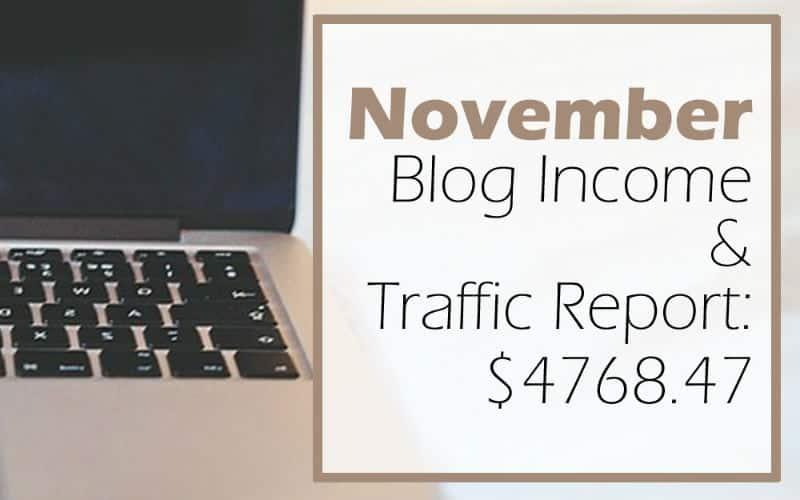 Blog Income & Traffic Report: November 2016