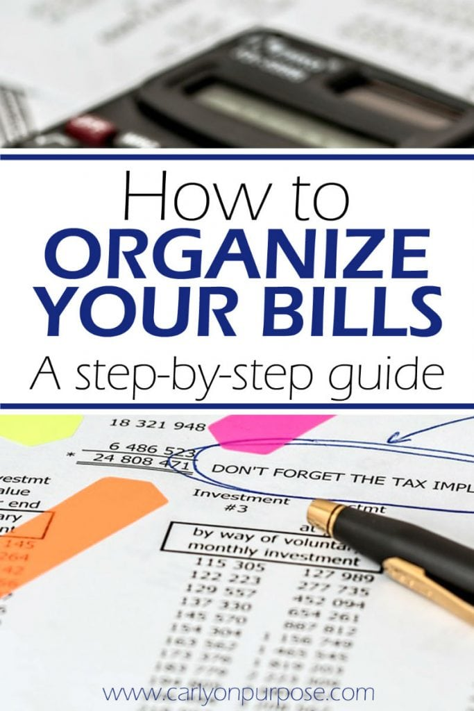 how to organize bills