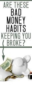 bad money habits / tips for when you are broke