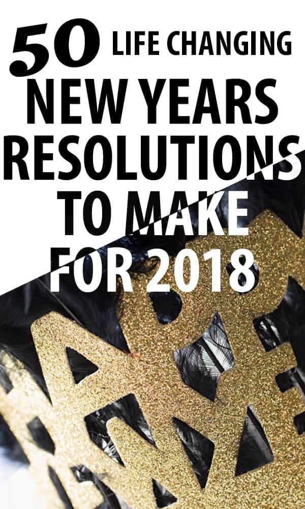 new years resolution ideas for 2018