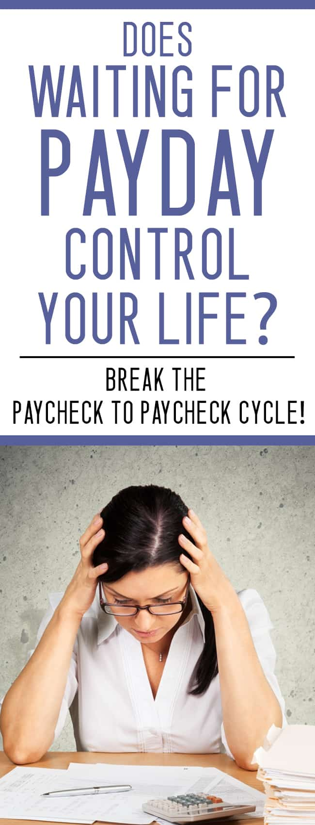 Does debt control you? STOP living paycheck to paycheck with these steps!