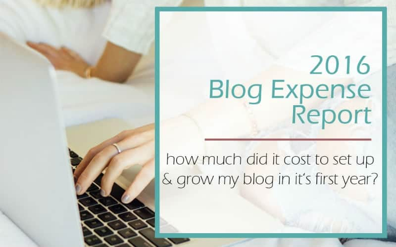 2016 Blog Expense Report
