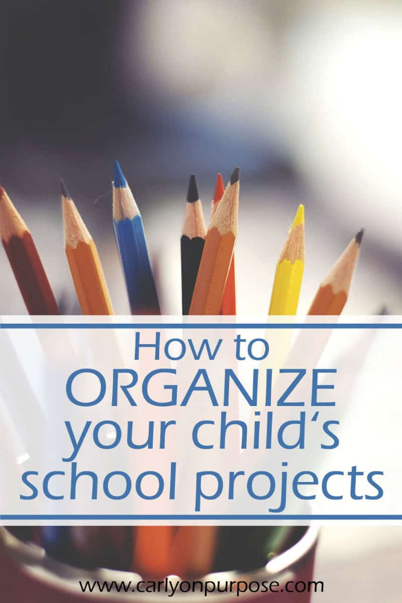 how to organize kid's school projects