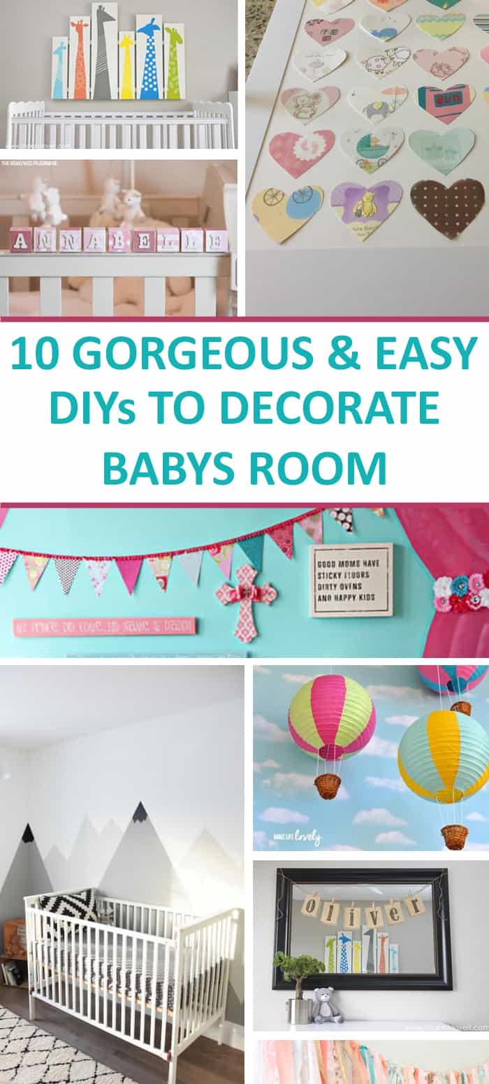 Great baby room ideas for cheap nursery decor!