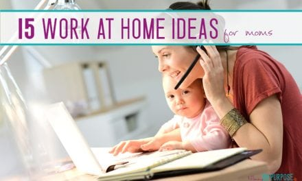 15 Work At Home Ideas for Moms