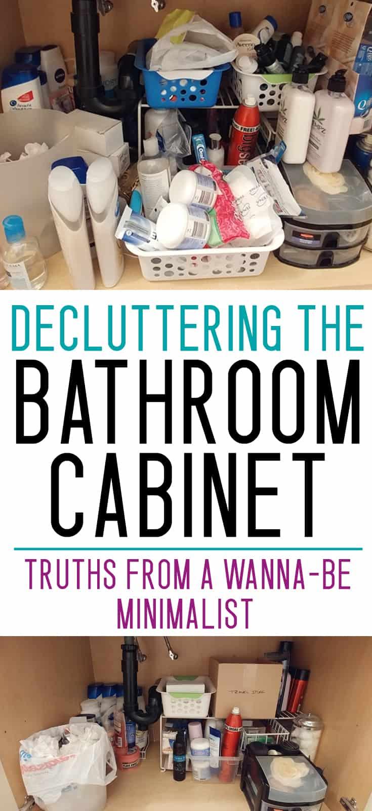 bathroom cabinet organization ideas - decluttering under the sink