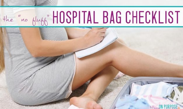 Things You ACTUALLY NEED in Your Hospital Bag (A Realistic Hospital Bag Checklist)