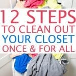 how to tackle clothing clutter and closet organization ideas!