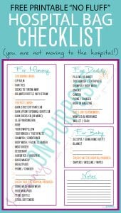 photograph about Printable Hospital Bag Checklist identify Clinic Bag Record for Labor - the things youll Definitely Employ the service of