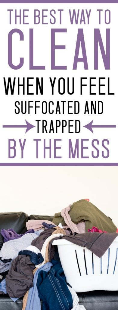 HOW TO CLEAN your house WHEN YOU ARE OVERWHELMED BY THE MESS