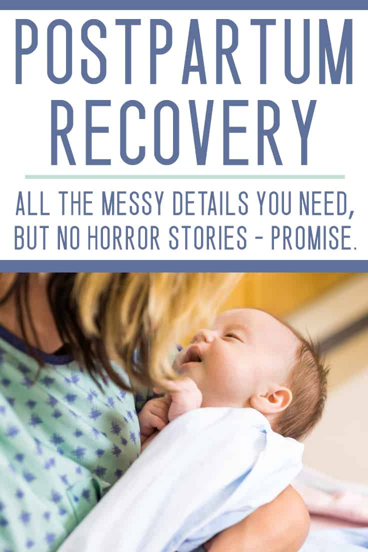 This is SO AWESOME - she tells it like it is - great postpartum recovery tips here!