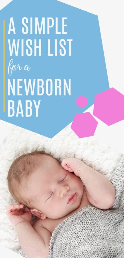 wishlist for a newborn baby