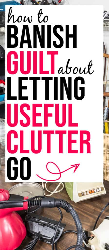 guilt from decluttering