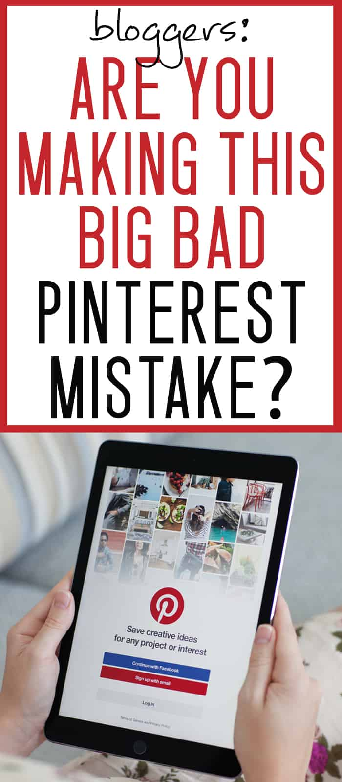 Feel like you're not seeing enough Pinterest traffic to your blog? Are you making this BIG PINTEREST MISTAKE? This is SO EASY to fix!