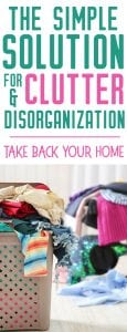 simple solutions for clutter and disorganization