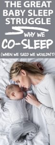 baby sleep - co sleeping can be a great way to get your baby to sleep better!