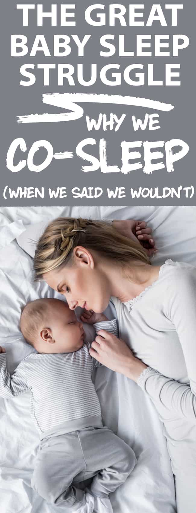 we said you would sleep train, but instead started co sleeping out of desperation -and it was the best decision we ever made! I LOVE sleeping with my babe!
